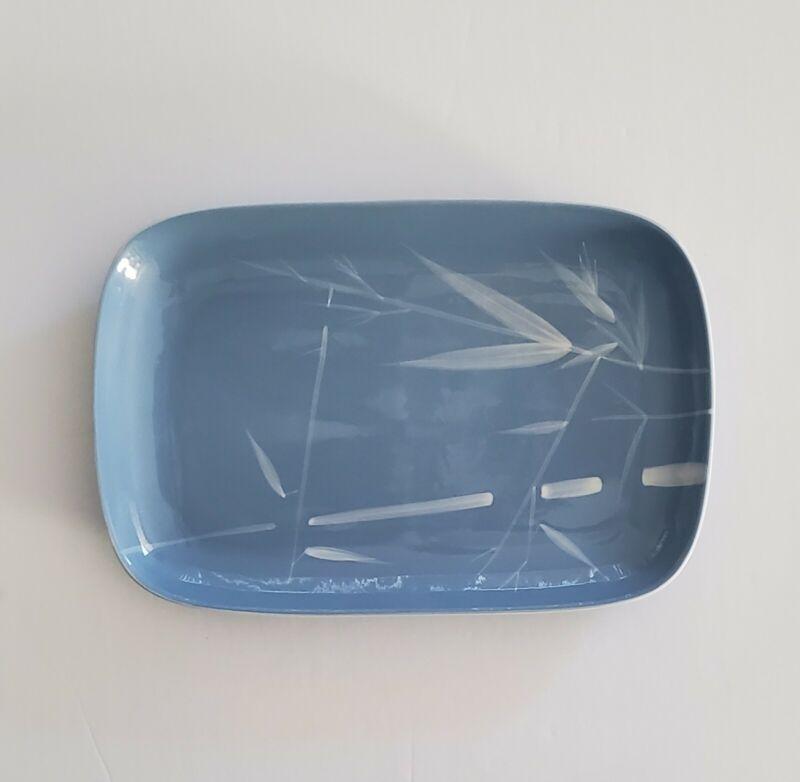 "Winfield Pacific Blue Bamboo 12"" x 8"" Serving  Platter China California"