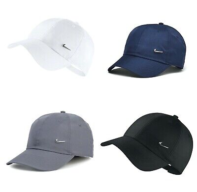 Nike Mens Swoosh Metal Sports Cap Baseball Golf Adjustable Hat Black Grey White