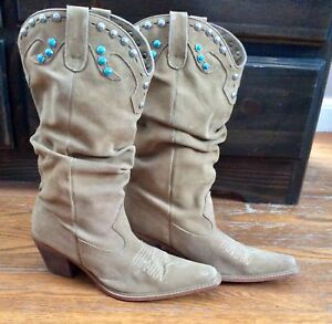 Boots & Hearts Anyone? Leather Cowboy Boots by Steve Madden EUC