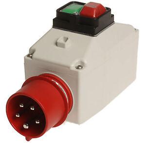 Gehäuse für ABL-Motorschutzschalter mit 16A-CEE Phasenwender, Nr. 4073.4987
