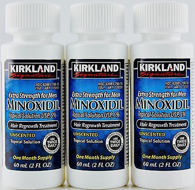 Kirkland Signature Minoxidil Hair Regrowth Topical Solution 1  2  3 Month Supply