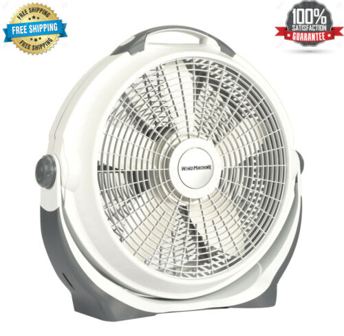 "NEW Lasko 20"" Air Circulator Wind Machine, 3-Speed Floor Fan, A20301, Gray-NEW"