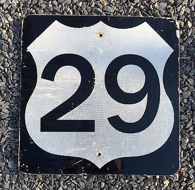 Highway 29 Road Metal Shield Sign Reflective Retired Man Cave