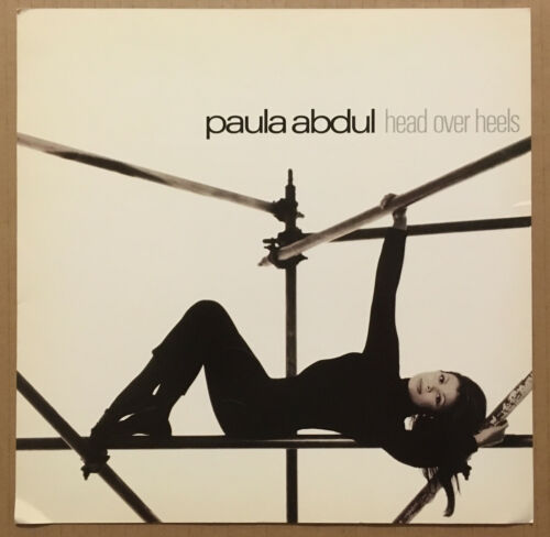 PAULA ABDUL Rare 1995 DOUBLE SIDED PROMO POSTER FLAT for Head CD NEVER DISPLAYED