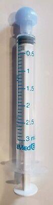 100pk 3cc3ml W Cap Baxter Baxa Exactamed Oral Medicine Dose Syringe Dispenser