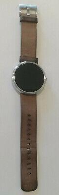 Motorola Moto 360 40mm Stainless Steel Case Grey Leather Classic Smartwatch