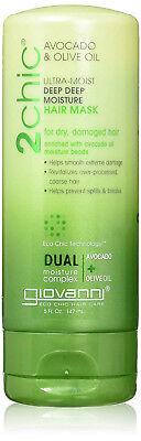 Giovanni 2chic Avocado and Olive Oil Ultra-Moist Deep Moisture Hair Mask, 5 Flui