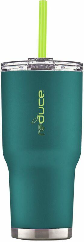 COLD-1 34 oz. Matte Vacuum Insulated Tumbler One Size Aqua blue