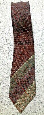 New 1930s Mens Fashion Ties VINTAGE 1930's-40'S 100%  WOOL DIAGONAL STRIPE ABTEX  3