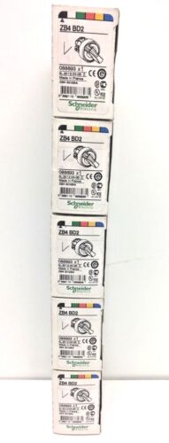 Lot of 5 SCHNEIDER ELECTRIC ZB4BD2 BA 22mm SELECTOR 2 position Switch # 088893
