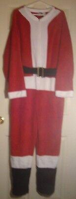 BRIEFLY/STATED~man's~SANTA/CLAUS/SUIT/w/BLACK/BELT/GOLD/BUCKLE! (L) BRAND/NEW! - Black Santa Suit