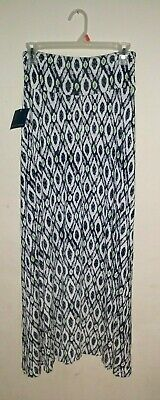 NWT Falls Creek Stretch Knit Maxi Skirt Womens Small Abstract Print Multi Color Abstract Print Knit Skirt
