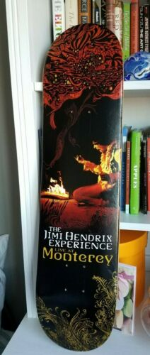 NEW!! JIMI HENDRIX Live at Monterey SKATEBOARD DECK