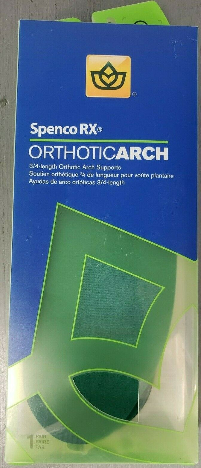 Spenco RX Full Length Orthotic Arch Supports Size 4 1 Pair