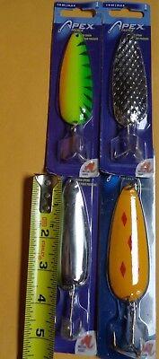 SEVEN  Apex Game Fish Spoons 7//8 Oz 1 each color