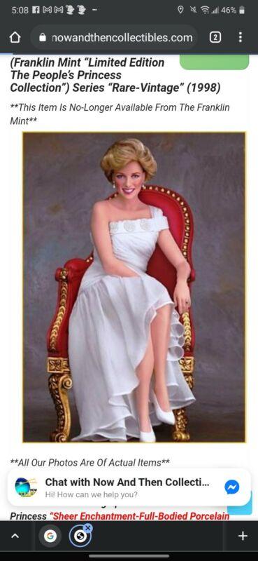 princess diana portrait of a princess porcelain. Numbered A1624TPM