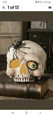 Bethany Lowe Halloween Mrs. Skeleton Skull Light Include NEW