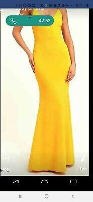 Lulus Maxi Dress Golden Yellow Sz Medium