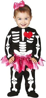 Baby Mädchen Mexikanisch Halloween Tag der Toten Skelett Kostüm Kleid Outfit