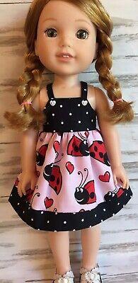 Ladybug Combo Sun Dress fits 14.5