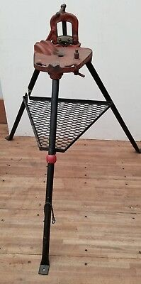 Ridgid 40 Vise Tripod Stand W Clamp C-240 For Pipe Threading Threader 300 700 2