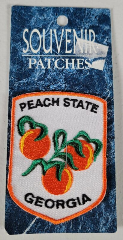 Vintage Georgia Peach State Jacket Patch Badge Peaches Souvenir New Iron On