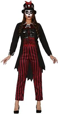 heimlich Gruselig Halloween Kostüm Kleid Outfit UK 10-16 (Voodoo-hexe Halloween-kostüme)