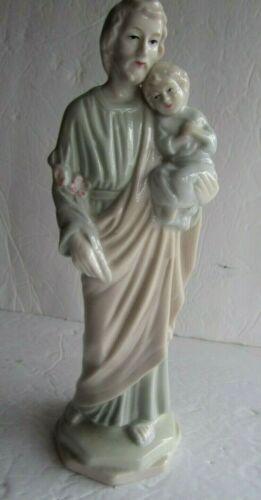 St Joseph & Baby Jesus Catholic Figurine DTC 1984 Hand Painted, Elegant