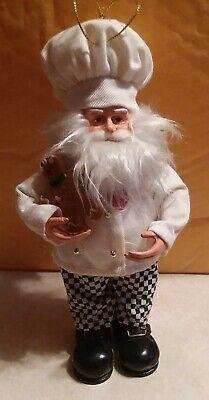 Christmas Santa (Baking Chef Santa Christmas with Gingerbread Man Ornament or stand)