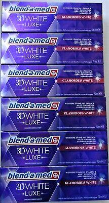6x blend-a-med 3D White Luxe Glamorous WHITE Zahnpasta 6x 75ml Sonderpreis !