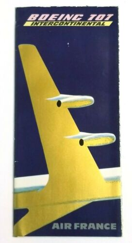 Vintage 1959 Original Air France - Boeing 707 Intercontinental Poster - RARE