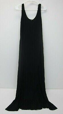 Boohoo Plus Bianca Split Front Maxi Dress - Womens US 14 - Black - NWT