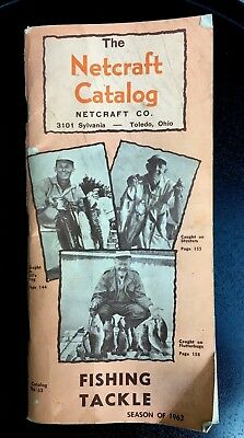 Netcraft Fishing Catalog - Vintage Netcraft booklet fishing rods reels fly lures tackle catalog 1963