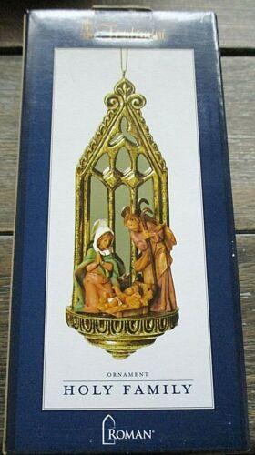Fontanini Roman HOLY FAMILY Nativity Mirrored Arch Christmas Ornament NIB