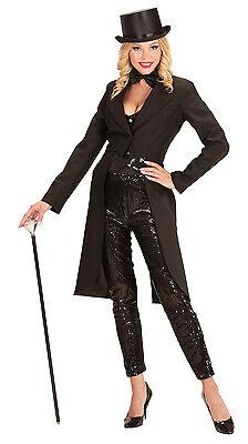 Showgirl Frack schwarz NEU - Damen Karneval Fasching Verkleidung Kostüm