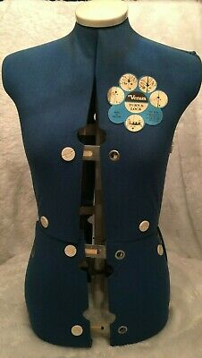 Vintage Venus Turn Lock Professional Female Dressmaking Form Made In England