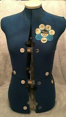Vintage Venus Turn Lock Professional Female Dressmaking Form Made In England