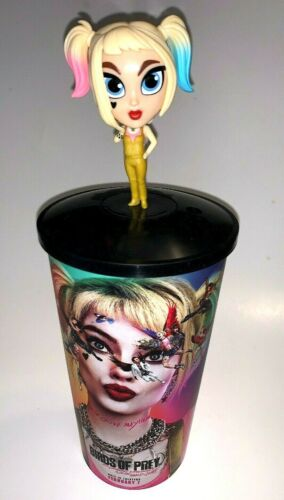 Harley Quinn Birds of Prey Movie Theater Exclusive Bobble Head Topper with Cup🔥