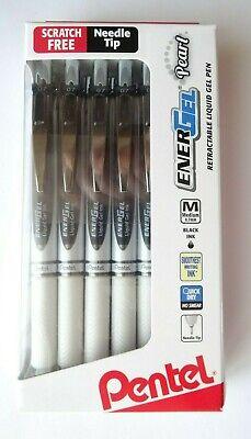 Pentel Energel Pearl Pens 0.7mm Needle Point Black Ink Pack Of 12 - New