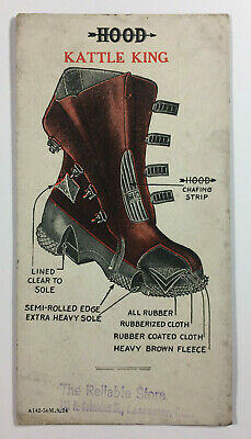 Vintage Hood Kattle King Rubber Boots Ink Blotter Reliable Store Lancaster Ohio