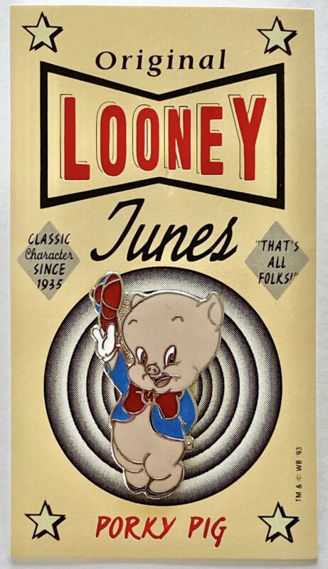 NEW Looney Tunes_PORKY PIG_That's All Folks_Metal Enamel Collectible Pin Tack