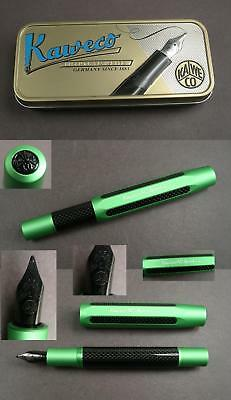Kaweco Carbon Sports Fountain Pen Holder Made of Aluminium in Green