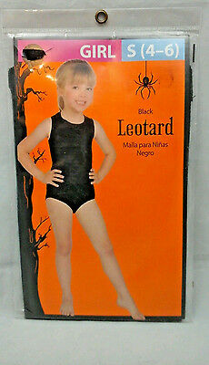 Leotard Black Halloween Costume Girl Walmart New In Package Sz S 4 to 6](Walmarts Halloween Costumes)