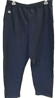 Russell Athletic Open Bottom Sweatpants Pockets Blue Sport Fit Mens -