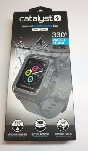 Catalyst Waterproof Case for 42mm Apple Watch Series 2, 3  BLACK / GRAY BAND