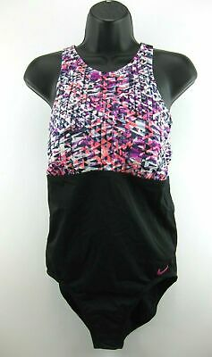 Nike Swimsuit Size Large Fuchsia Purple Black Nike Womens Swimsuit