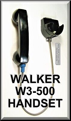 WALKER EQUIPMENT W3-500 WALL MOUNTED HANDSET, CRADLE & ARMORED CABLE: BRAND -
