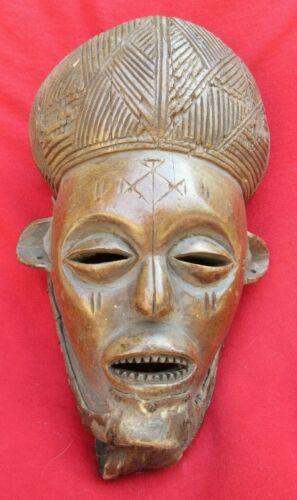 Vintage Chokwe Tribe Ancestral Royal Elder Mask - Congo