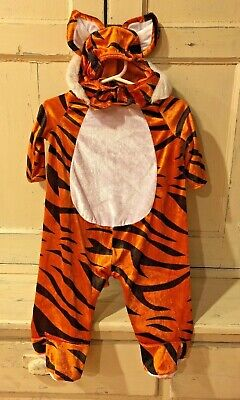 Infant Spirit Halloween Costume Tiger Tot Size 0-6 Months Excellent