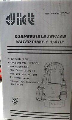 Dict Submersible Sewage Water Pump 1-14 Hp Wsp14s
